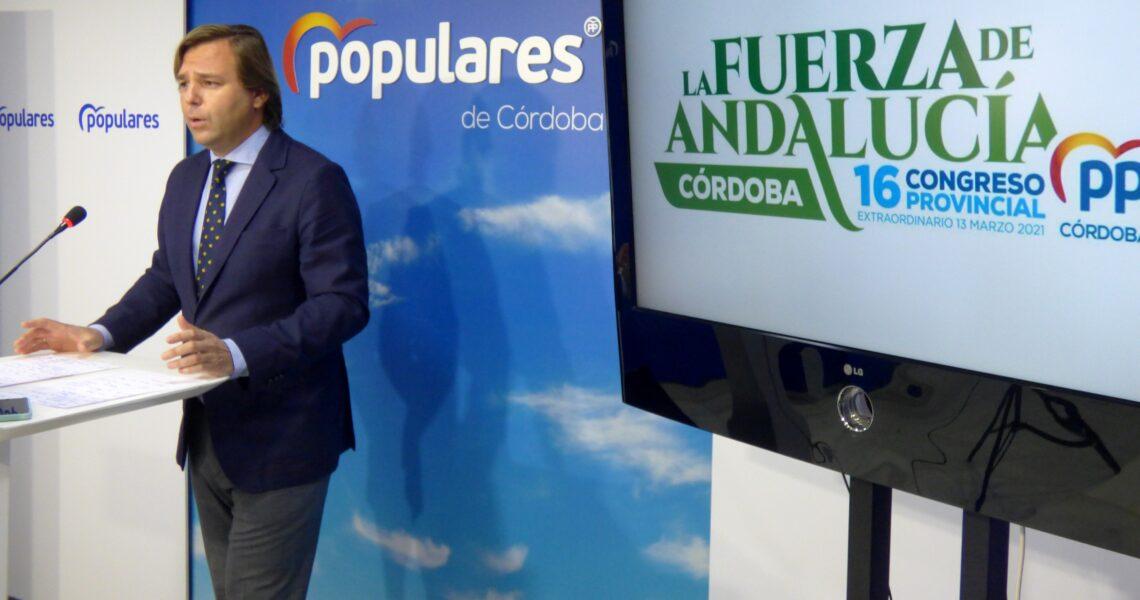 """Repullo: """"El PP de Córdoba saldrá de este congreso con un nuevo impulso para dedicarnos a lo que interesa a los cordobeses"""""""